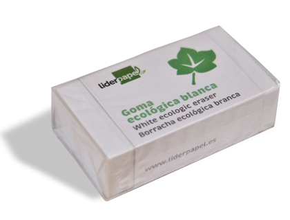 GOMA LIDERPAPEL ECOLOGICA BLANCA