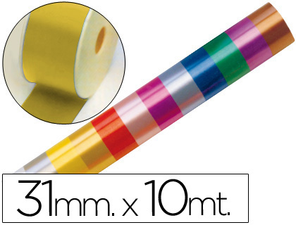 CINTA FANTASIA 10 MT X 31 MM ORO