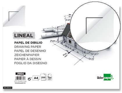PAPEL DIBUJO LIDERPAPEL 210X297MM 1...