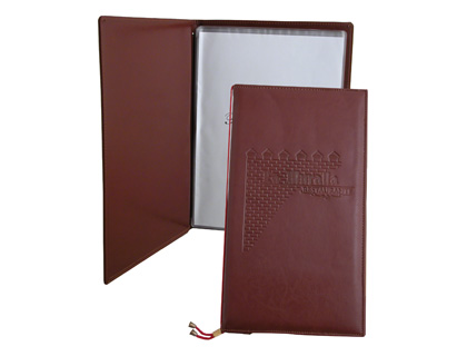 PORTA MENUS POLIPIEL MARRON CARTA D...