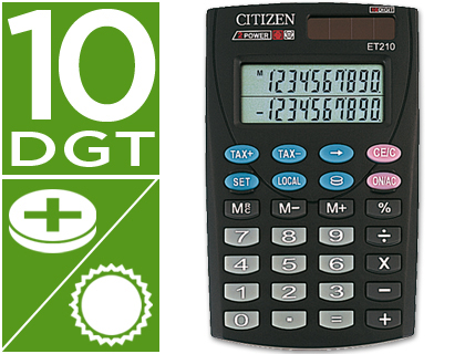 CALCULADORA CITIZEN BOLSILLO ET-210...