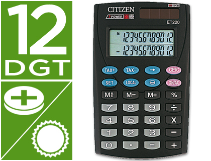 CALCULADORA CITIZEN BOLSILLO ET-220...