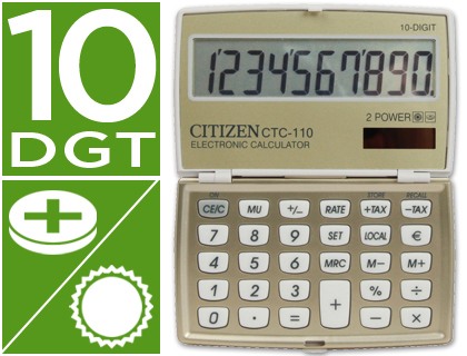 CALCULADORA CITIZEN BOLSILLO CTC-11...