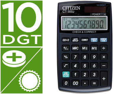 CALCULADORA CITIZEN BOLSILLO CT-300...