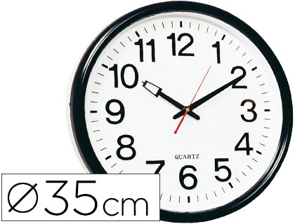 RELOJ Q-CONNECT DE PARED PLASTICO B...