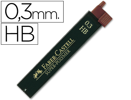 MINAS FABER GRAFITO 9063 0,3 MM HB ...