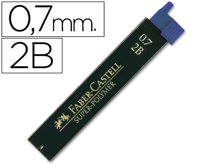 MINAS FABER GRAFITO 9067 0,7 MM 2B ...