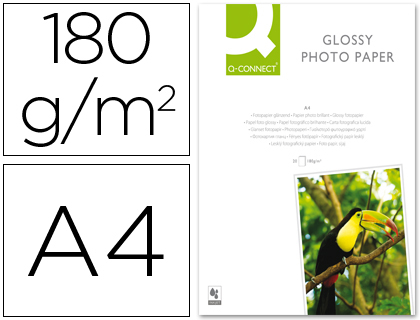 PAPEL Q-CONNECT FOTO GLOSSY -KF0110...