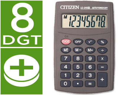 CALCULADORA CITIZEN BOLSILLO LC-210...