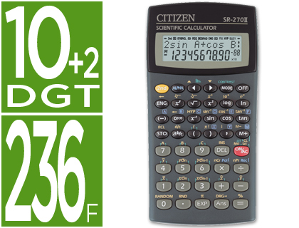 CALCULADORA CITIZEN CIENTIFICASR-27...