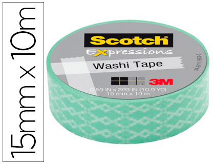 CINTA ADHESIVA SCOTCH WASHI TAPES P...