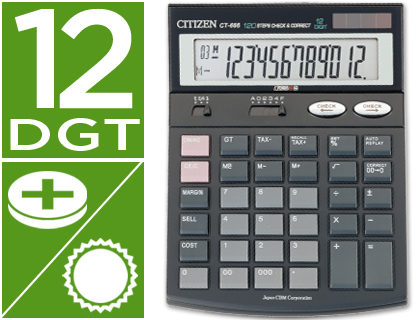 CALCULADORA CITIZEN SOBREMESA CT-66...