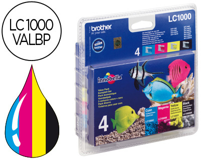 INK-JET BROTHER LC-1000 PACK NEGRO/...