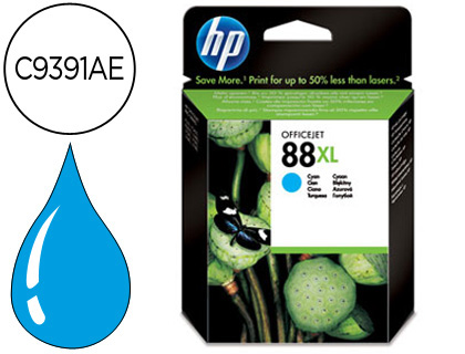 INK-JET HP 88XL CIAN 1.700PAG OFFIC...