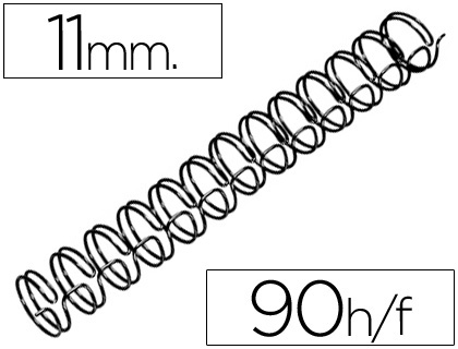 ESPIRAL WIRE 3:1 11 MM N.7 NEGRO CA...