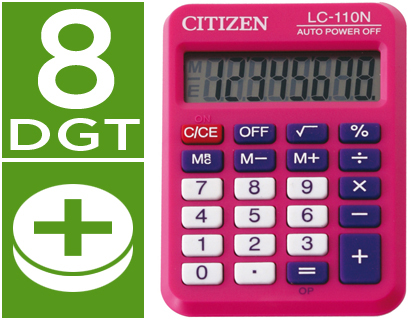 CALCULADORA CITIZEN BOLSILLO LC-110...