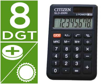CALCULADORA CITIZEN BOLSILLO SLD-20...