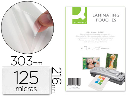 BOLSA DE PLASTIFICAR Q-CONNECT 303 ...