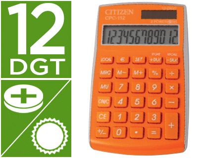 CALCULADORA CITIZEN BOLSILLO CPC-11...