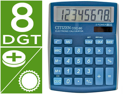 CALCULADORA CITIZEN SOBREMESA CDC-8...