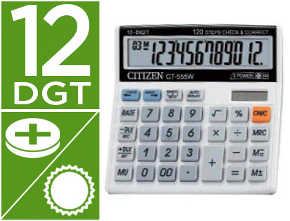 CALCULADORA CITIZEN SOBREMESA CT-55...